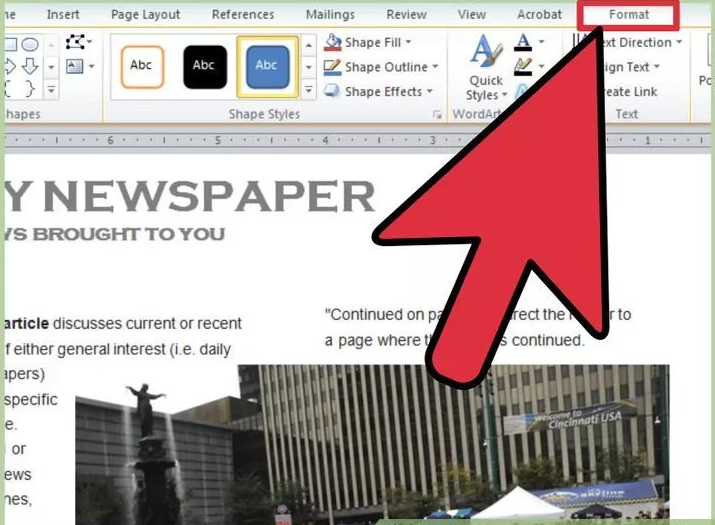 How to write in newspaper format in word paper writers site au