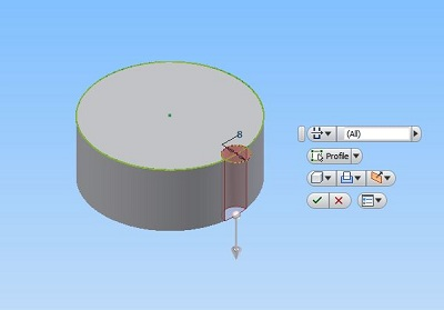 How To Model A Simple Gear With Autodesk Inventor. -4