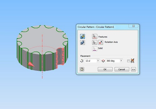 How To Model A Simple Gear With Autodesk Inventor. -5
