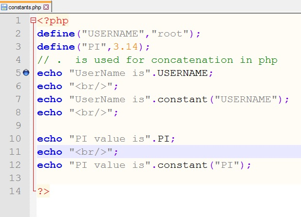 PHP 5 Constants