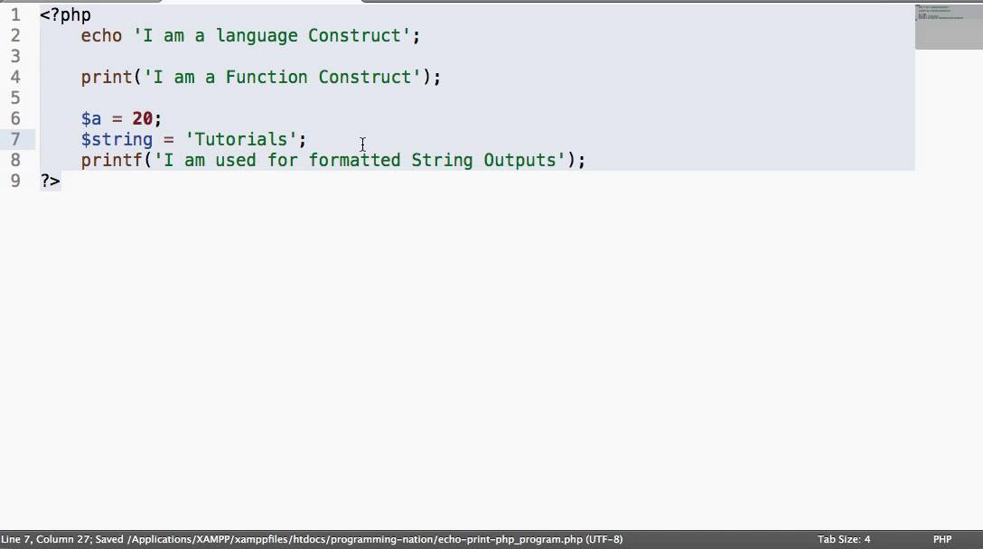 PHP 5 echo and print Statements