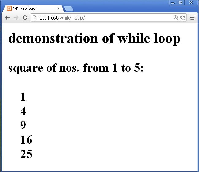 PHP 5 while Loops