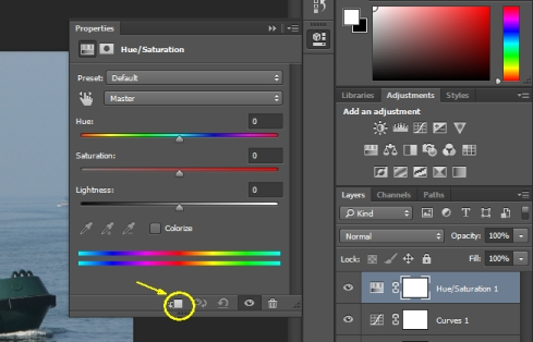 Creating Adjustment and Fill Layer in Photoshop
