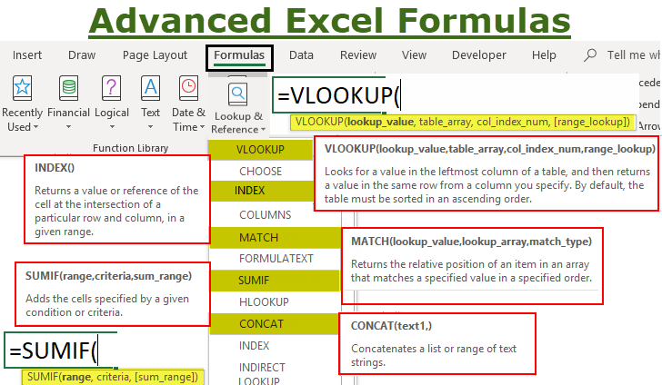 Advanced Excel: 10 Formulas You Must Know