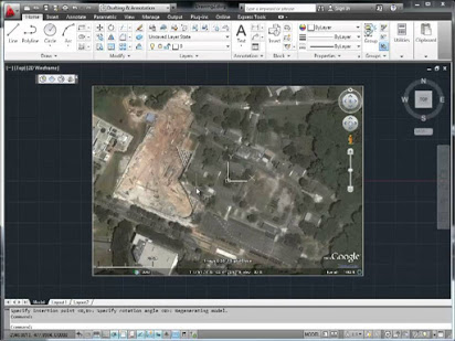Autocad: How to use Google Earth