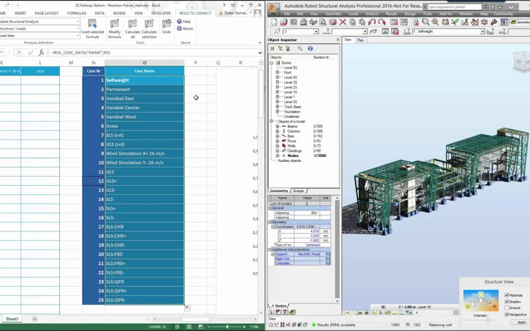 How to Access Robot Structural Analysis Model Data and Results with Excel