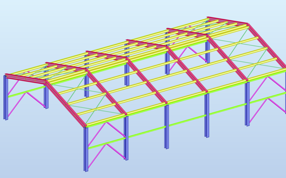 Part 1: Portal Frame with Structural Analysis for Dynamo Package