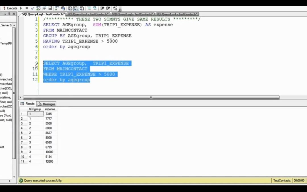Searching your SQL database with the CONTAIN function
