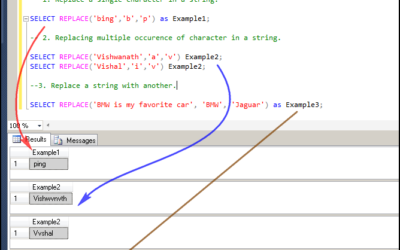 How to use REPLACE keyword in SQL 2