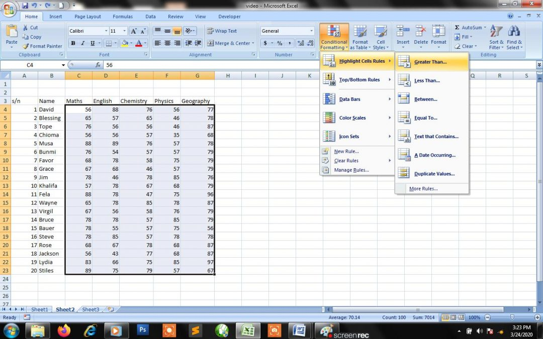 Conditional Formatting for Numbers