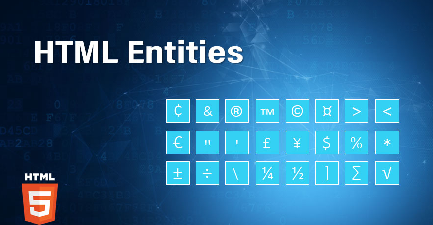 How to use and apply Entities in HTML