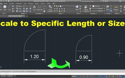 How to scale in Autocad using Reference method