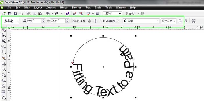 How to fit text to Path in CorelDraw